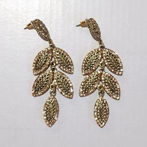 Francesca Rose Gold Leaf Earings